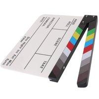 Brand New Coloré Clap Clapper Board Acrylique Effaçable À Sec Directeur TV Film Film D'action Slate Clap Coupé À La Main Prop