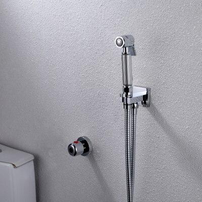 Термостатический ручной Туалет биде кран гигиены Личная Чистка Shattaf опрыскиватель душ комплект роскошный ванная душевая головка - Цвет: A2014D