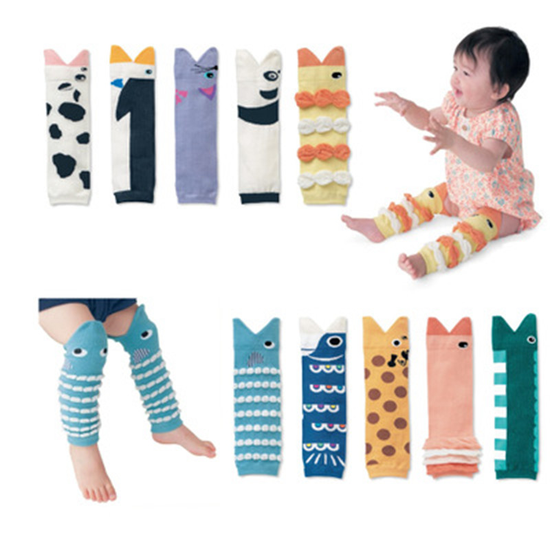 Ideacherry Baby Cotton Knee Pads Cartoon Mouth Type Multifunction Kid Crawl Leggings Knee Protector Leg Warmers For Baby Playing