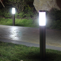 DONWEI lampa trawnikowa wodoodporna zewnętrzna lampka led lampa ogrodowa światła ogrodowe ogród społeczności droga ścieżka oświetlenie dekoracyjne w Lampy LED na trawnik od Lampy i oświetlenie na