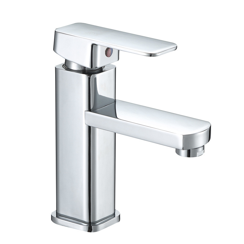 single hole wash basin hot and cold water faucet square basin ...