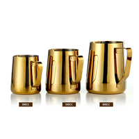 Stainless Steel Milk Frothing Jug Golden Color Espresso Coffee Pitcher Barista Craft Coffee Latte Milk Frothing
