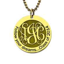 Wholesale Gold Monogram Disc Necklace Personalized Engraved Initial Disc Pendant Follow Your Heart Name Necklace Faith Jewelry personalized disc name pendant of 2 layered for women rose gold color initial necklace for present