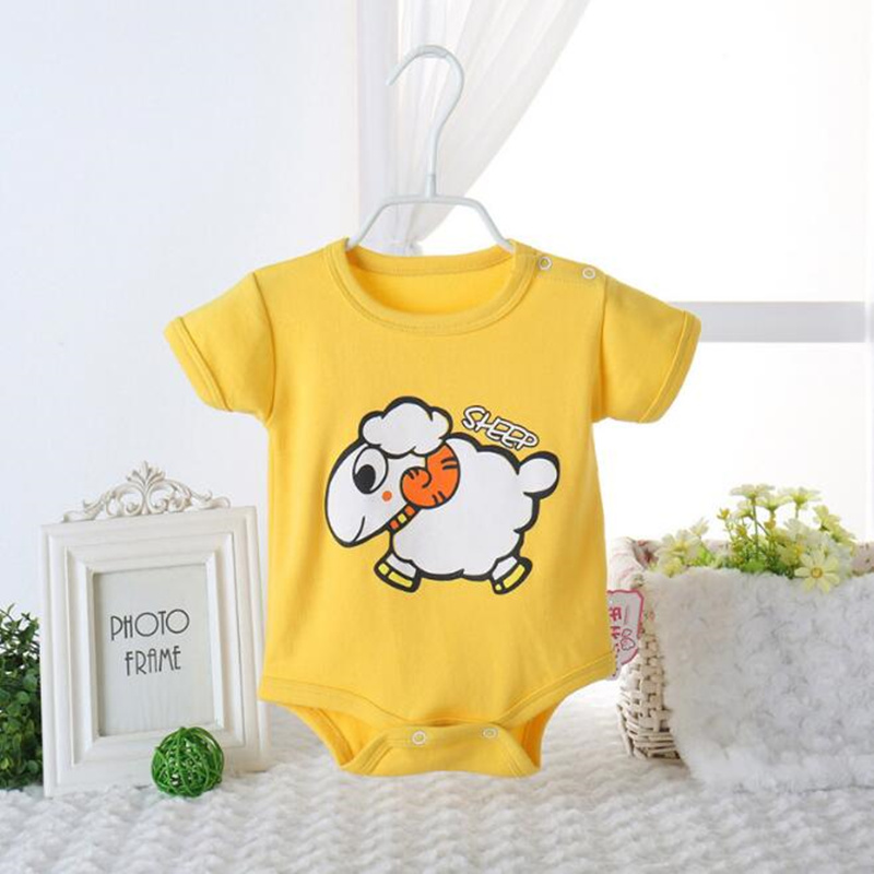 39cbf23408c0 Factory Price Baby Rompers Summer Baby Boys And Girls Clothes Cartoon Newborn  Baby Short Sleeve Infant Jumpsuits Kids Costume-in Rompers from Mother    Kids ...