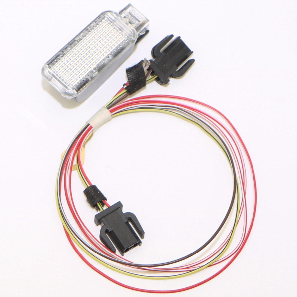 Car Rear Door Warning Light + Connect Plug Cable For Sharan Q3 Q5 Q7 TT RS3 RS4 A6 S6 A3 S3 A4 S4 Seat Leon Exeo 8KD 947 415C