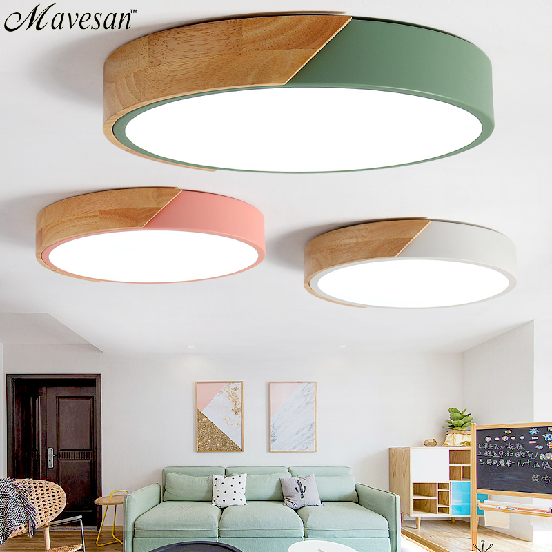 Modern Wooden led ceiling lights for Living room Bedroom Kitchen luminaria led ultra-thin 5CM hall luminaria led ceiling lampModern Wooden led ceiling lights for Living room Bedroom Kitchen luminaria led ultra-thin 5CM hall luminaria led ceiling lamp
