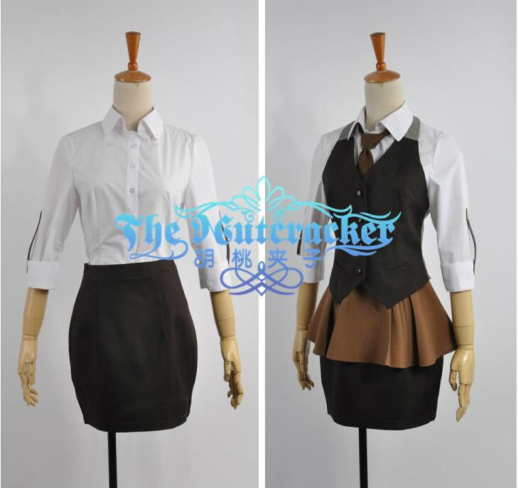 Details about  /New Tokyo Ghoul Touka Kirishima Work Part time Uniform Cosplay Costumes