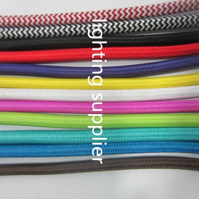 50 м/лот 2x0. 75mm2 EDISON ЛАМПЫ Провода текстиль Цвет Плетеный Провода Ткань Мощность шнур Провода кабель - 5