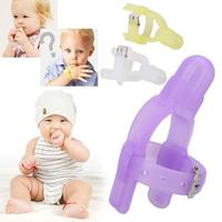 2017 Kids Baby Children Forefinger Sucking Stop Nontoxic Silicone Finger Guard Protect Bite Prevention Baby Teethers