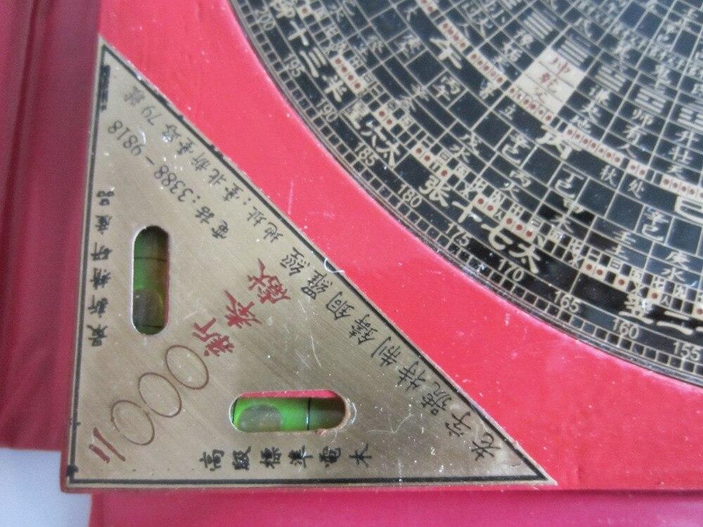 Chinois FENG SHUI Dragon métal et bois boussole magnétique en plastique rouge boîtier nouveau métal artisanat - 4