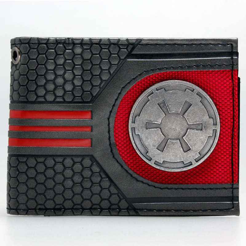 Star Wars Rebel Emblem Logo Mix Material Bi-fold  Wallet DFT-1921 star trek command metal logo bi a fold wallet dft 1404