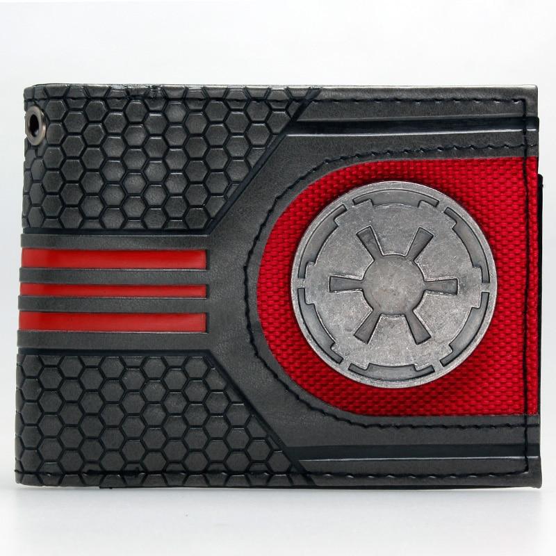 Star Wars Rebel Emblem Logo Mix Material Bi-fold  Wallet  Women Purse DFT-1921