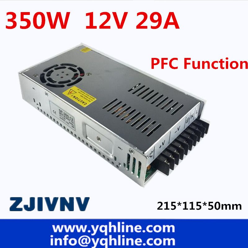 ac to dc PFC function 350w switching power supply 12v 29a led driver source switching power supply 12volt SP-350-12 switching power supply 12v 6a 80w source power 12 v 220v to 12v ac dc power supply dc12v 80w source fuente de alimentacion