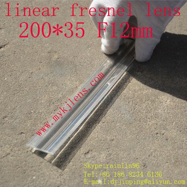 200 * 35mmF12mm lineární fresnel objektiv pro dopravu bez - Měřicí přístroje - Fotografie 2