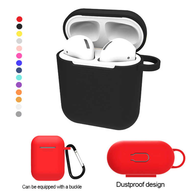 for Airpods QI Standard Wireless Receiver Cover  Earphone Protective Case Shell for Apple AirPower Wireless Charger