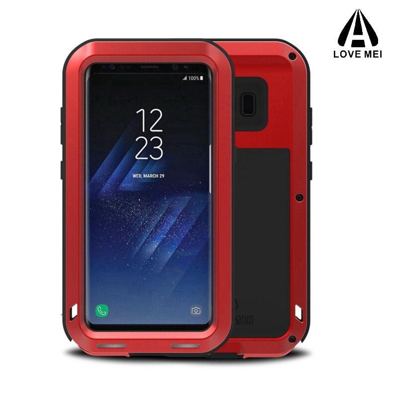 Amour mei En Aluminium En Métal Couverture Pour Samsung S8 Cas Armure antichoc Full Body Couverture de Téléphone Pour Samsung Galaxy S8 Plus cas