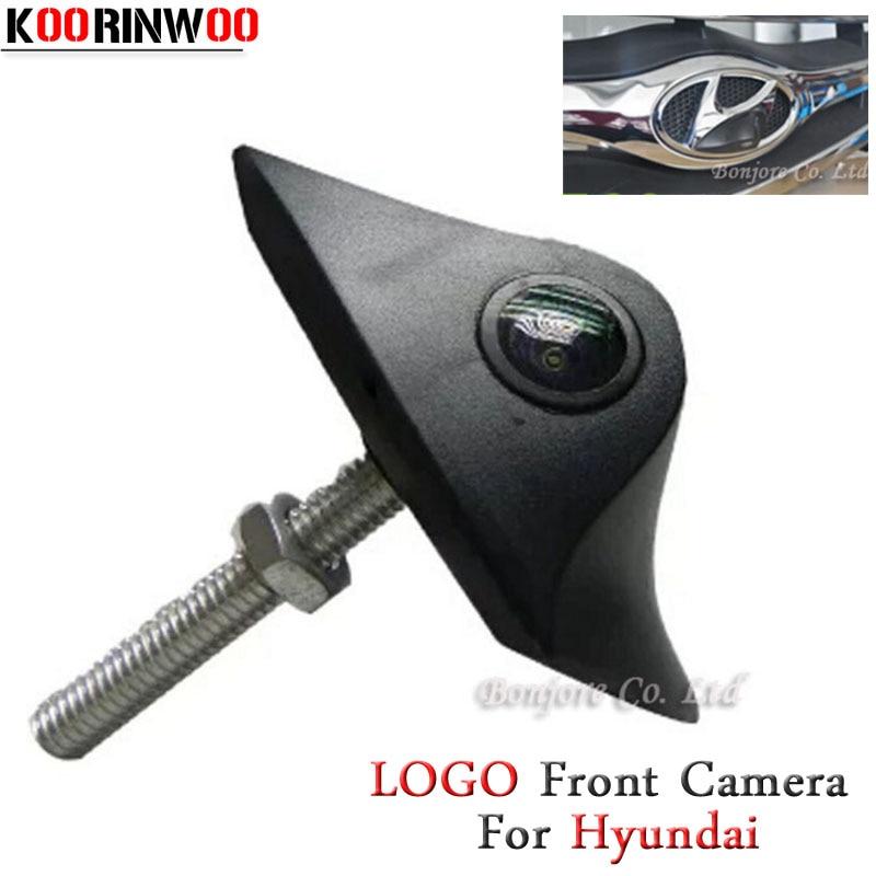 KOORINWOO Auto Waterproof HD CCD Night vision Logo Camera Car Front camera For Hyundai Parking Assist Video System Free Shipping