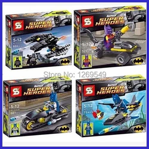 SY203 super heros batman Motorcycle batpod building block toys Avengers figures blocks Compatible L ego - M J store