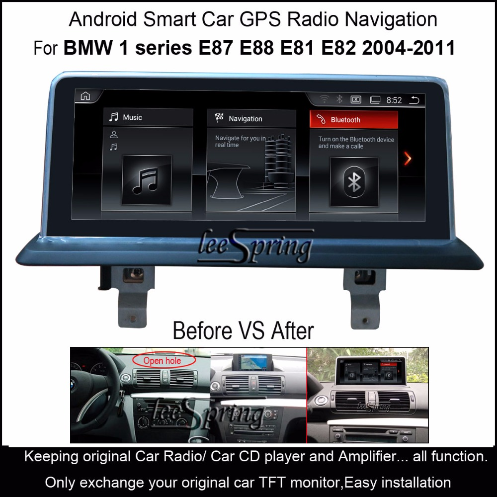inch screen android 4 4 car media player for bmw 1. Black Bedroom Furniture Sets. Home Design Ideas