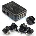 Venta caliente de 4 puertos usb cargador Rápido Nuevo 4 Puertos USB Adaptador de Cargador de Pared de CA Para El teléfono móvil + tablet + mp3 + mp4 + reproductor usb cargador