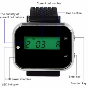 Image 3 - Retekess Waiter Calling System Restaurant Guest Pager Wireless For Cafe Wrist Watch Receiver+10 Call Button Transmitter F3360