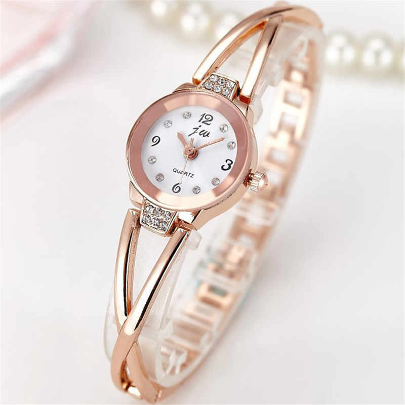 2019 yeni marka JW bilezik saatler kadınlar lüks kristal elbise saatı saat kadın moda günlük kuvars saat reloj mujer