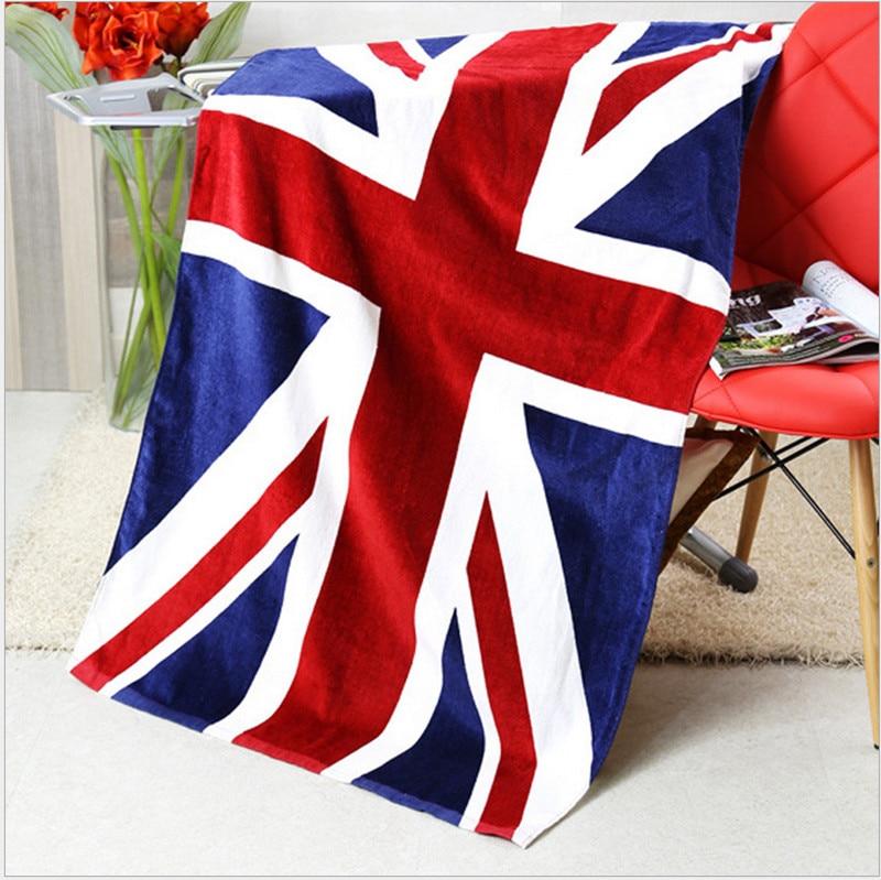 American British flag design bath towel 140x70cm absorbent cotton beach towel drying washcloth swimwear shower towels