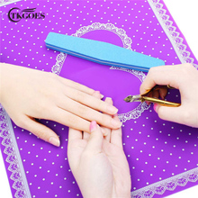 TKGOES Nail Art Equipment Advanced Silicone Table Mat Pad Cute Point Lace Silicone Foldable Washable Salon Manicure Beauty Tools(China)