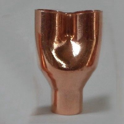 Xxmm Copper End Feed Reducing Y Way Pipe Fitting Plumbing For Gas Water Oil