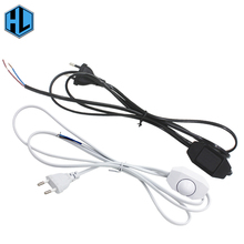 180cm EU Plug Dimmer Light Button Switch Lamp Cord Wire Switching Line Cable Power for chandelier LED lantern