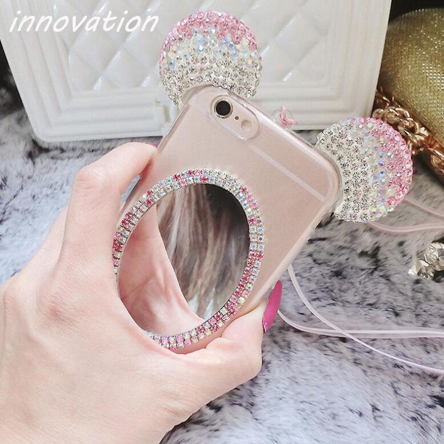 HTB1R7iSSFXXXXaeaXXXq6xXFXXXD - Luxury Crystal Mirror Glitter Rhinestone Mickey Ears Phone Cases PTC 179