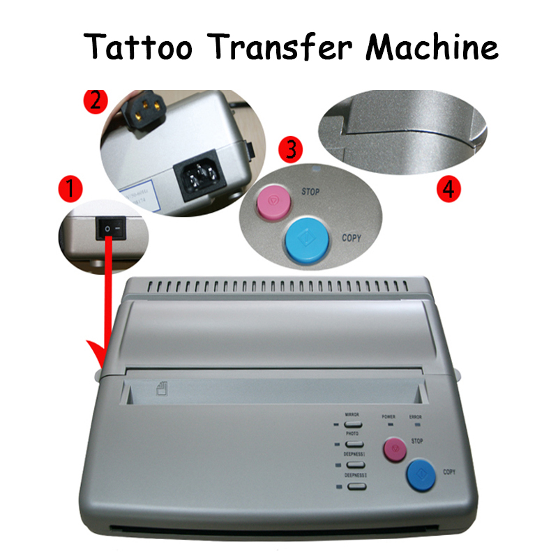 Tattoo transfer machine essence transfer machine tattoo thermal copier printing transfer with English manual I17Tattoo transfer machine essence transfer machine tattoo thermal copier printing transfer with English manual I17