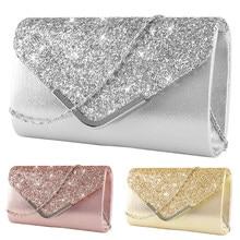 7a690a64181 Clutch Bag Vrouwelijke Satijn Diamante Handtas Vintage Chain Evening Clutch  Wallet Party Envelop Telefoon Tas Bolsos