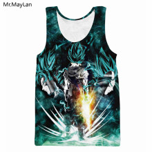 110197930a8f67 Classic Anime Dragon Ball Cool Super Saiyan 3D Hipster Print Tank Tops Men  Casual Vest Summer