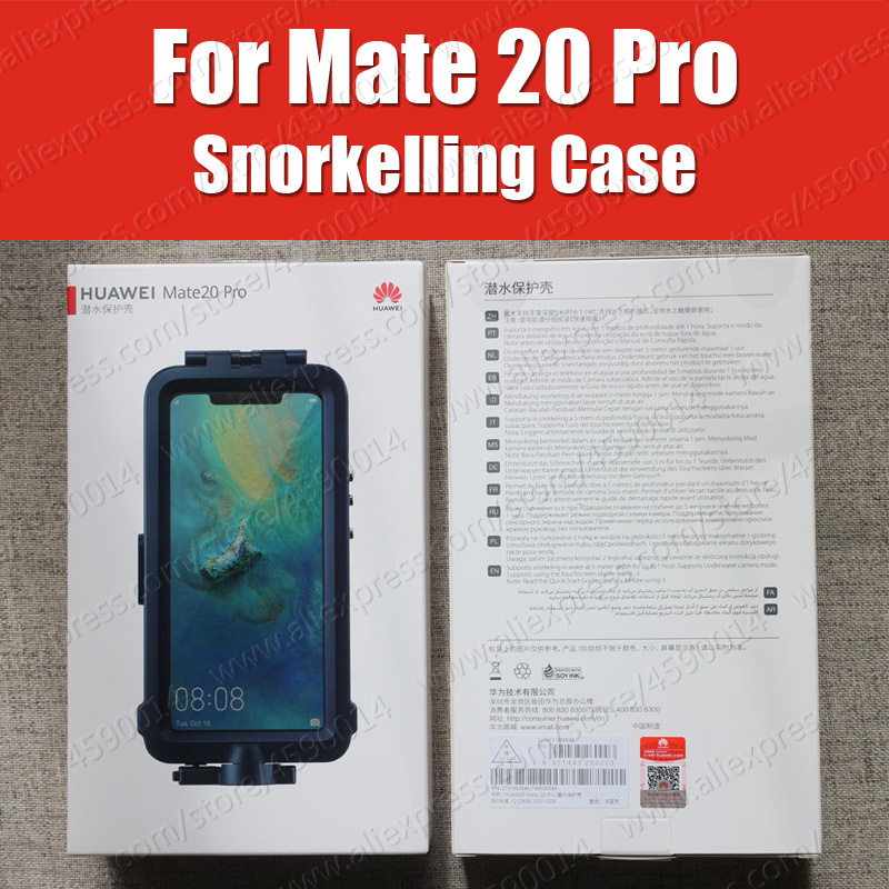 Snorkelling Case For Huawei Mate 20 Pro diving Protector Case Waterproof Official Original Mate20 Pro Underwater