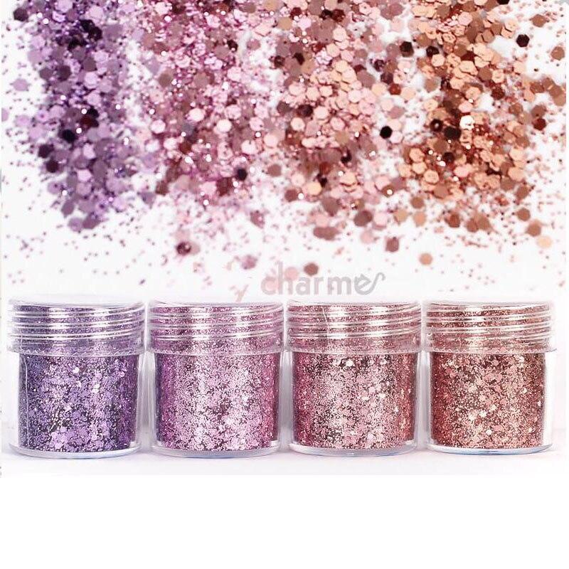 Glitter Flakes Für Epoxy Form Nagel Glitter Pailletten Pulver Für Nagel Kunst Dekoration Schmuck Selbstlos 10 Ml Mischfarbe Shiny Glitter Pulver