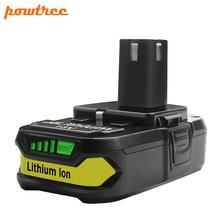 Powtree 1 шт. 18 в 2500 мАч литиевая батарея для Ryobi P107 P100 P102 P103 P104 P105 P107 P108 L10 Перезаряжаемые Li-Ion Батарея Мощность инструменты
