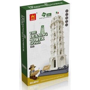 Image 3 - Wange 8012 Tower Of Pisa Tháp Nghiêng Building Block Cấu Trúc Building Blocks Kids Giáo Dục Đồ Chơi Wange Khối Quà Đồ Chơi Cho Trẻ Em