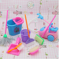Free Shipping doll furniture 9pcs/set accessories for Barbie Doll , Household cleaning tools for barbie,gifts girl play house