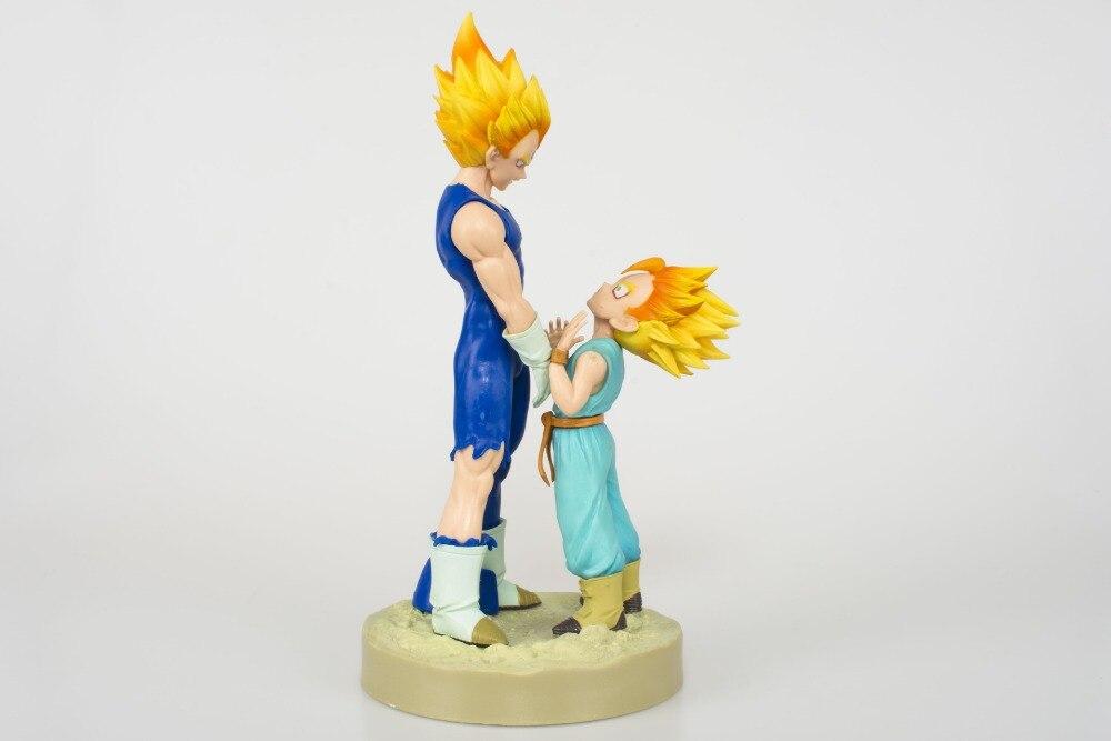 21cm Dragon Ball Z Figure Dramatic Showcase 4th season Super Saiyan Vegeta Trunks PVC Action Figure Model Toy
