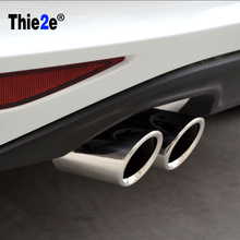 """7 """"الفولاذ المقاوم للصدأ العادم Pipes الذيل الأنابيب ل VW golf 6 جولف 7 mk 6 mk7 2013/Scirocco 1.4T TSI لأودي/سكودا/اوكتافيا"""