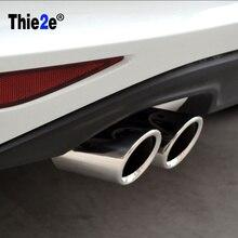 "7"" Stainless Steel Exhaust Muffler Tail Pipes For VW golf 6 golf 7 mk 6 mk7 2013 /Scirocco 1.4T TSI for AUDI /SKODA /Octavia"