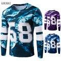 2016 Outono camisa de Fitness T Homens Camiseta Homme Manga Longa Esportivos Camisetas Homem camiseta O-pescoço Camisa Masculina M-XXL