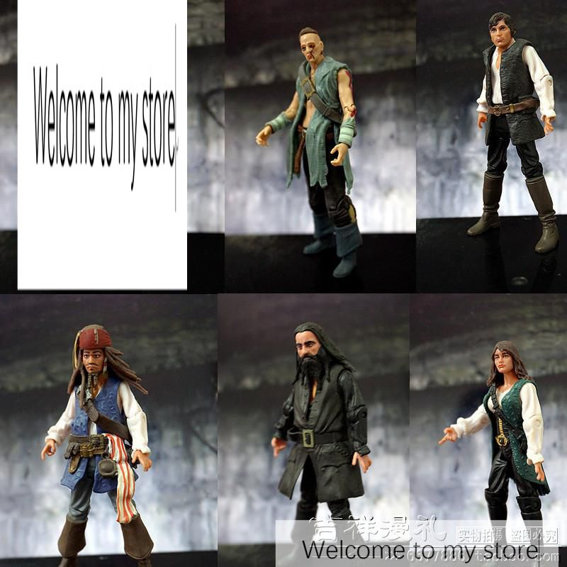 pvc figure 3.75 inch 1:18 movable doll Jack Captain Pirate 5pcs/set model toy цены