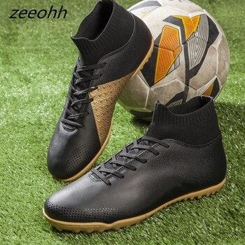 c7a6d1351 Zeeohh futzalki dos homens sapatos de futebol tênis indoor futsal turf  superfly botas de tornozelo alta botas de futebol chuteiras de futebol  originais