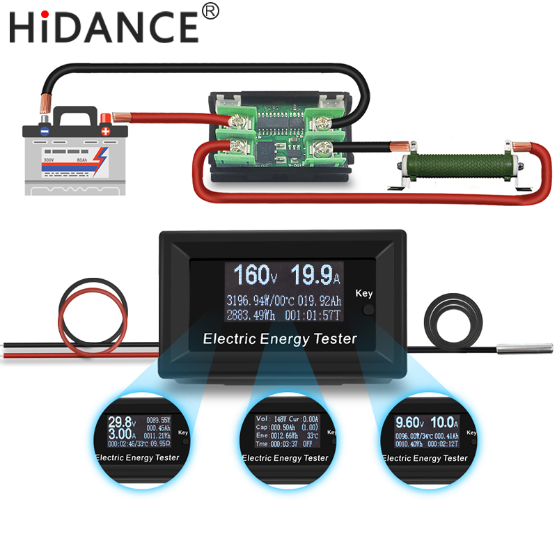 150 V 20A 3KW DC digital voltmeter amperemeter versorgungsspannung meter detektor wattmeter volt kapazität tester anzeige