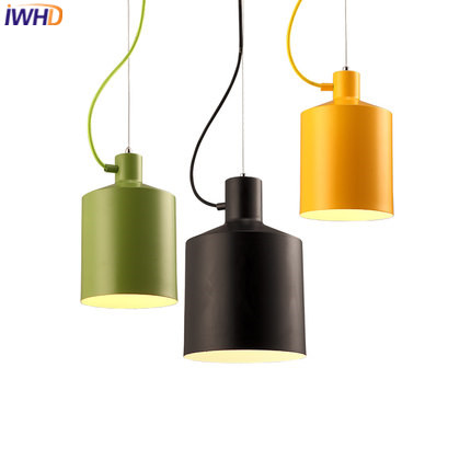 IWHD Retro Lamp Vintage Pendant Lights LED Loft Style Iron Industrial Hanging Lamp Bedroom Dining Home Lighting Fixtures Lustre iwhd american edison loft style antique pendant lamp industrial creative lid iron vintage hanging light fixtures home lighting