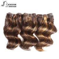 Joedir Hair Peruvian Hair Bundles 100g Human Hair Brown Blonde Piano Color 4/27 Remy Hair Bundle Deals 3 Bundles Free Shipping