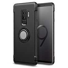 Business Armor Magnetic Phone Case For Samsung Galaxy S8 S9 Plus S7 Edge Car Ring Holder Cover Note 9 8