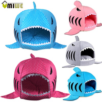 Warm Shark Shaped Pet Bed Luxury House With Mat Dog Sofa Sleeping Bed Cats Perro Dog